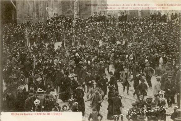 Nantes - Les inventaires du 22 février 1906 à Nantes