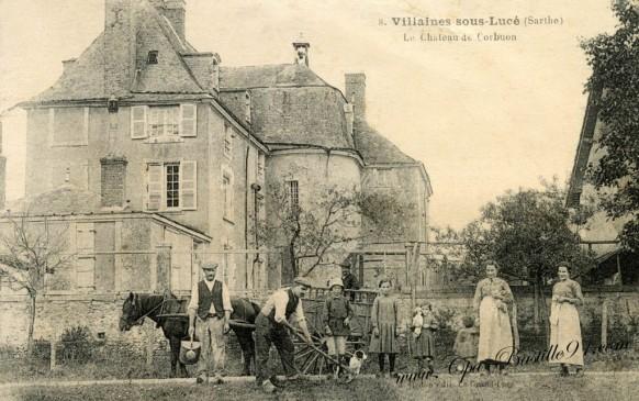 Villaines-sous-Luce-Le-chateau-de-Corbuon