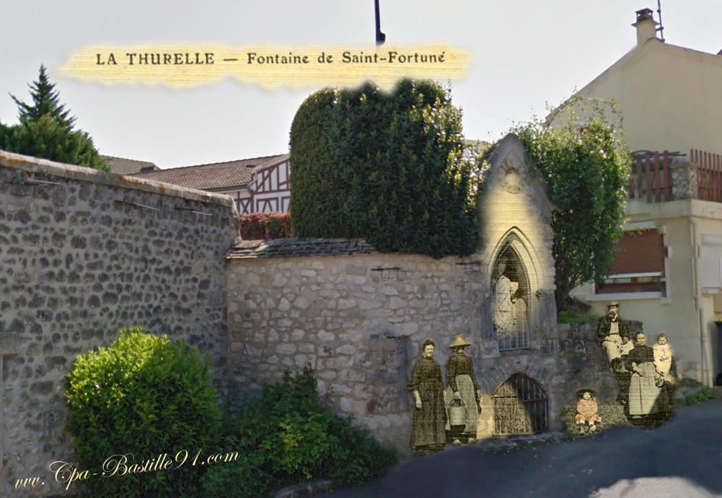 La thurelle fontaine de Saint Fortuné d'hier a aujourd'hui - Cliquez sur la carte pour l'agrandir et en voir tous les détails