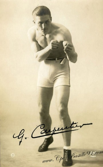 Carte-Postale-Ancienne - Autographe de Georges Carpentier