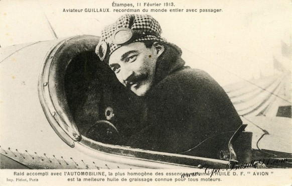 Etampes-11 fevrier 1913-Aviation-Aviateur Guillaux