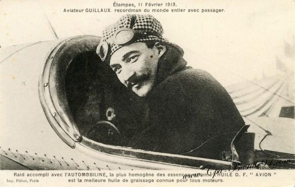 Etampes-11 fevrier 1913-Aviation-Aviateur Guillaux