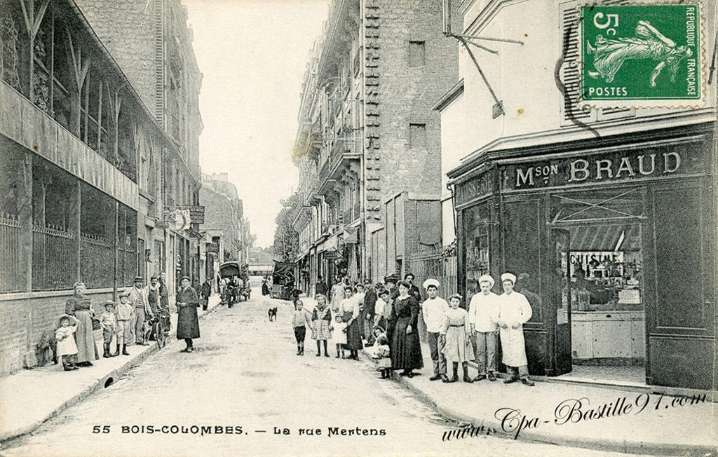 Bois Colombes – La Rue Mertens – Pâtisserie Braud – Cliquez sur  ~ Carte Bois Colombes