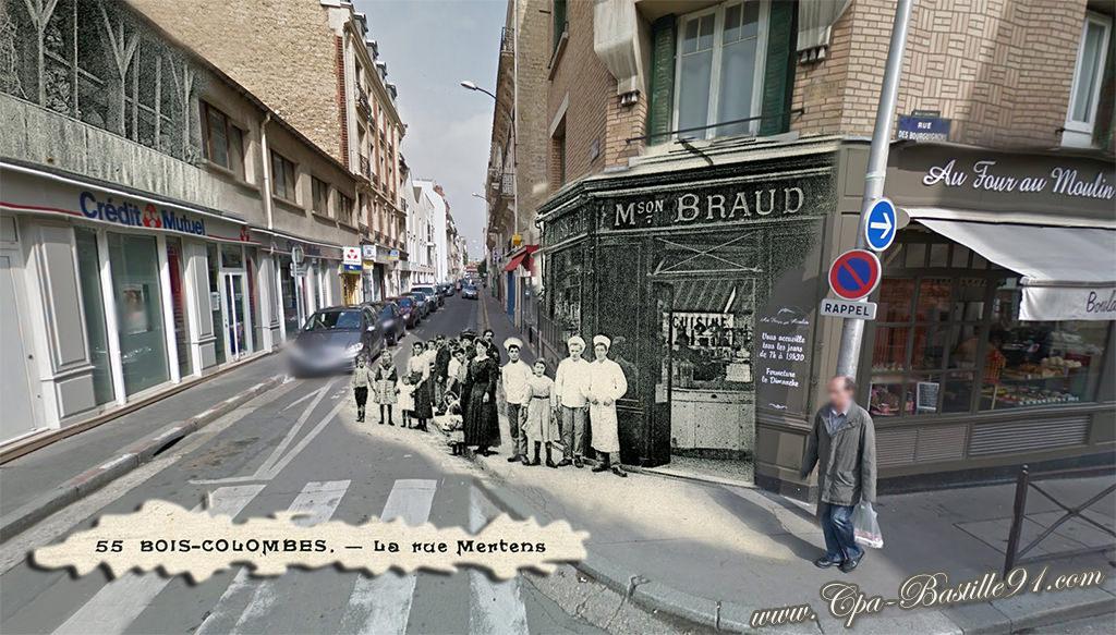 BoisColombes – La Rue Mertens – Pâtisserie Braud – D'hier  ~ Rue Des Bourguignons Bois Colombes