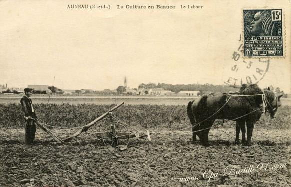 Auneau-La-Culture en Beauce - Le Labour