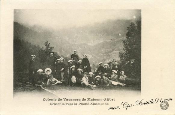 Colonie de Vacances de Maisons-Alfort-descente vers la plaine Alsacienne