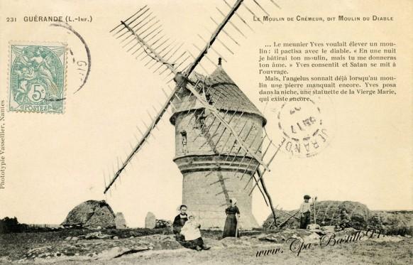 Guérande - Le Moulin de Crémeur dit Moulin du Diable