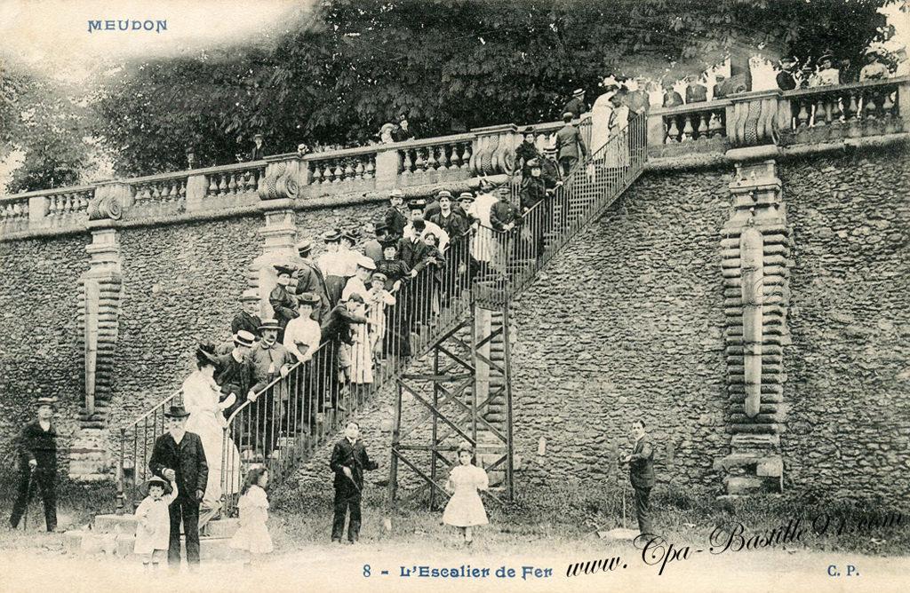 meudon l escalier de fer en 1900 cartes postales anciennes