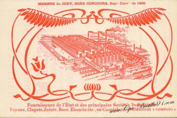 Carte Postale Ancienne - Publicitaire Falconnet-Perodeaud - Choisy-le-Roi -Art-Nouveau-1900