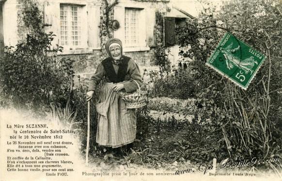 Saint-Satur-La Mere Suzanne-la-Centenaire