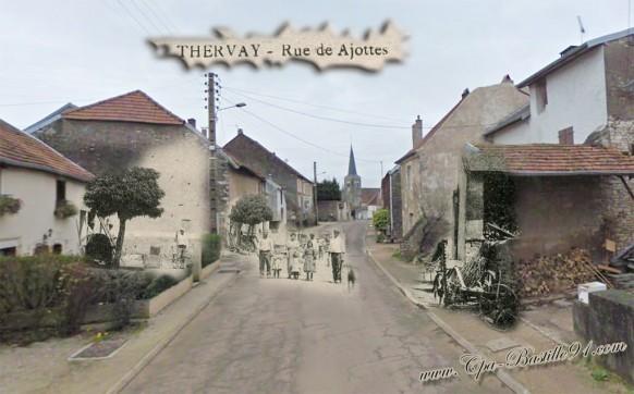 Thervay - rue de Ajottes - D'hier à Aujourd'hui