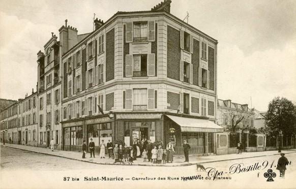 Saint-Maurice - Carrefour des rues Nocard et du Plateau
