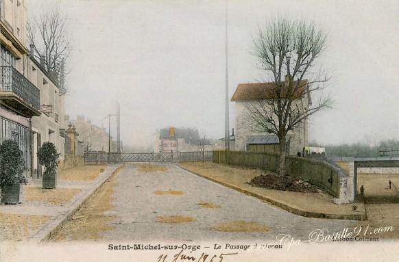 Saint-Michel sur Orge - Le Passage à Niveau en 1900 - Cliquez sur la carte pour l'agrandir et en voir tous les détails