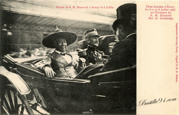 carte postale Ancienne-Sisowath-roi du Cambodge-1906