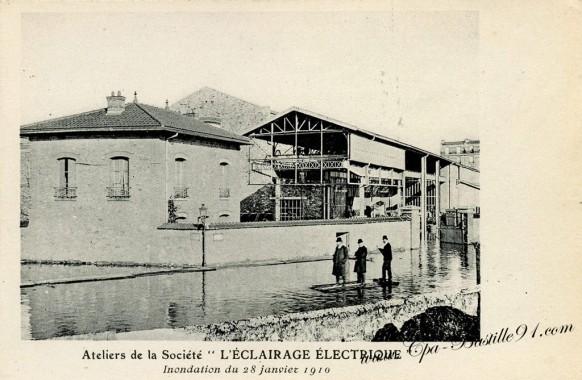 l'éclairage - électrique  de 1910