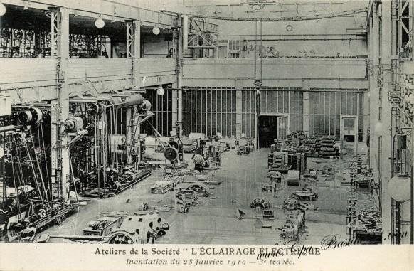 Ateliers de la société L'éclairage électrique - troisième Travée