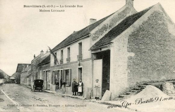 Bonvilliers - La Grande - Rue Maisons Luchard