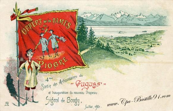 SIGNAL-DE-BOUGY-Illustration-sortie-des-actionnaires-du-GUGUSS-et-inauguration-du-nouveau-drapeau