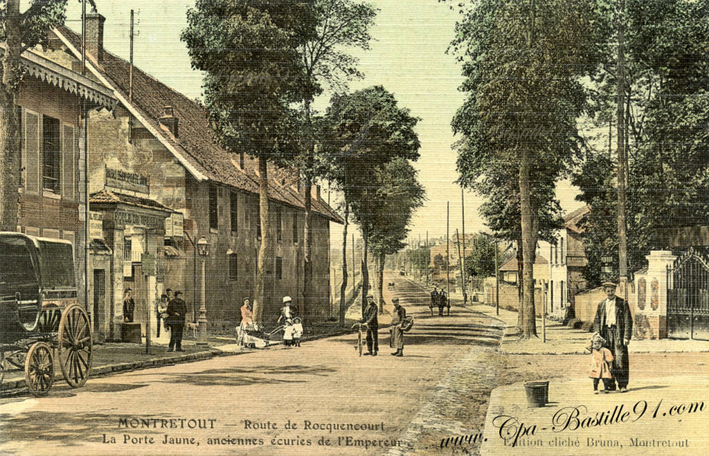 Saint cloud montretout route de rocquencourt la for Porte carte postale sur pied