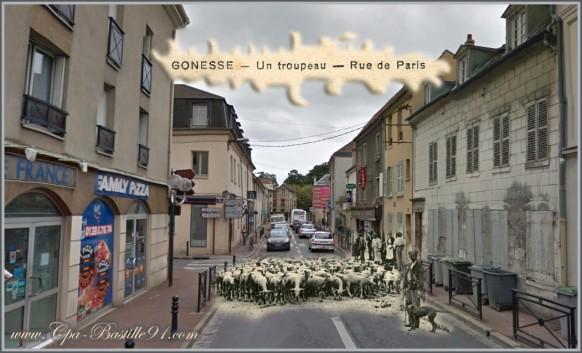 Gonesse rue de Paris-d'hier à Aujourd'hui