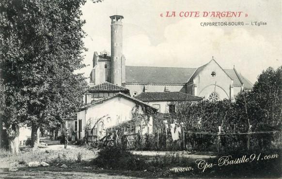 Carte-postale-Ancienne-La-Cote-dargent-Capbreton-Le-Bourg.