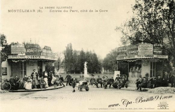 Montelimar-Entree du parc cote de la gare