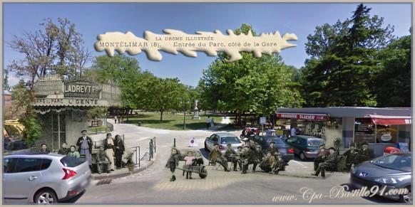Montelimar-l'entrée du parc dhier à aujourdhui