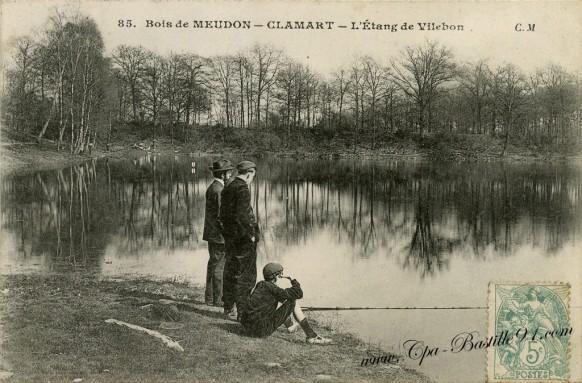 Carte-Postale-Ancienne-Bois de Meudon-Clamart-l'etang de Villebon