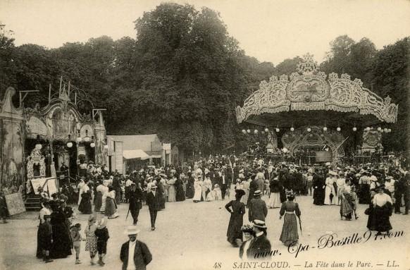Saint-Cloud - La fête dans le Parc en 1900