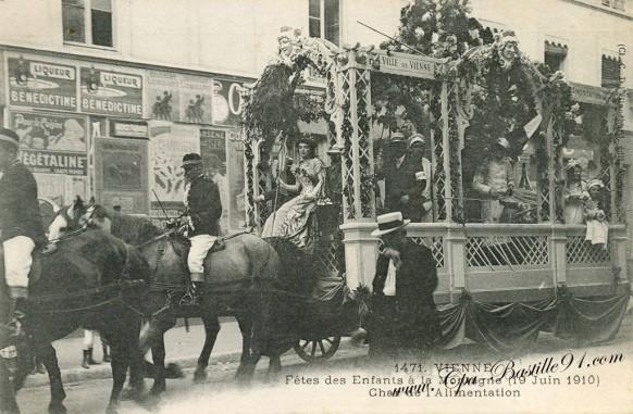 Vienne - Fête des enfants à la Montagne - Char de l'Alimentation - 19 Juin 1910