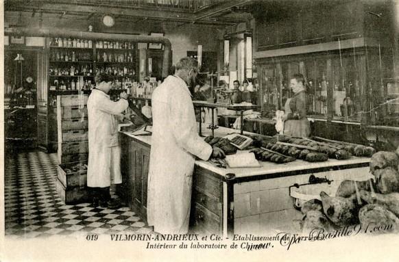 Vilmorin-Andrieux et Cie- Etablissement de Verrières - Intérieur du Laboratoire de Chimie