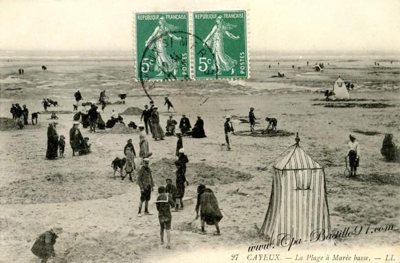 Cayeux - La Plage à Marée basse