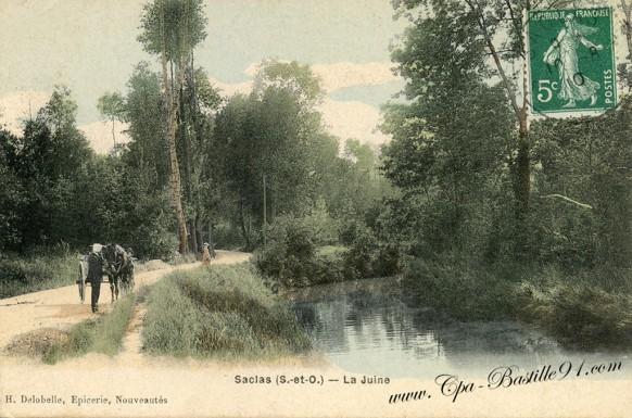 Carte-postale-Ancienne-Saclas-La-Juine