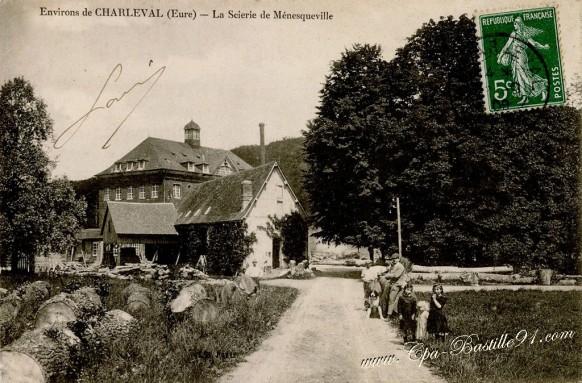 Environs de Charleval-La scierie de Ménesqueville