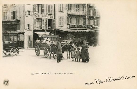 Puy-de-Dome - Attelage  Auvergnat