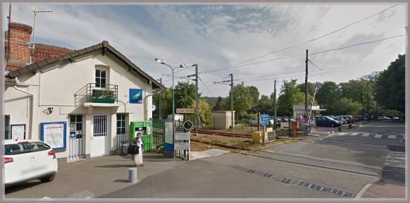 Gare de st-nom-la Bretèche-d'hier à aujourd'hui
