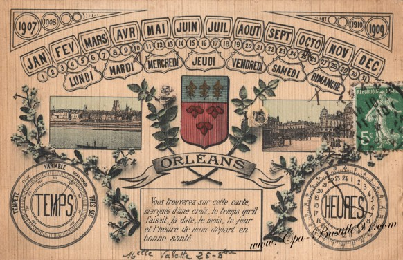 Carte-Postale-Ancienne-Orleans-jour-de-départ-en-bonne-santé