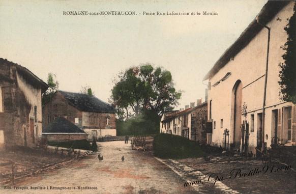 Romagne-sous-Montfaucon-Petite-rue-Lafontaine-et-le-Moulin