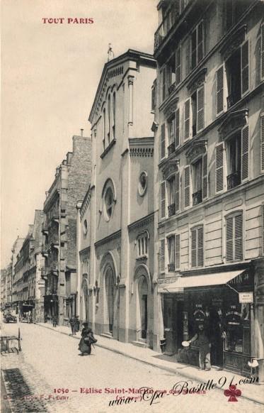 Tout-Paris - Eglise Saint-Martin - Rue des Marais