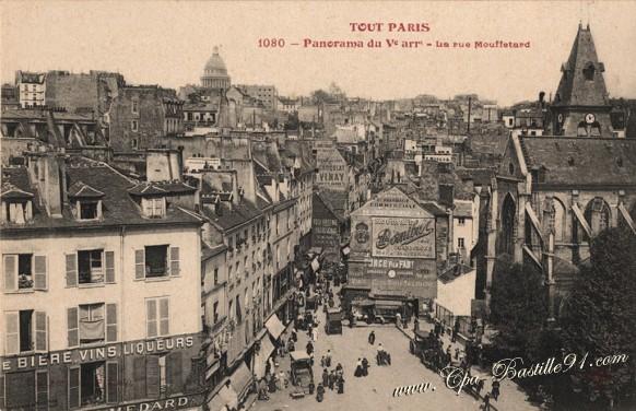 Tout-paris-Panorama-du-V-La-rue-Mouffetard