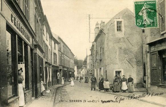 Carte-postale-Ancienne-Yerres-Rue-de-Paris