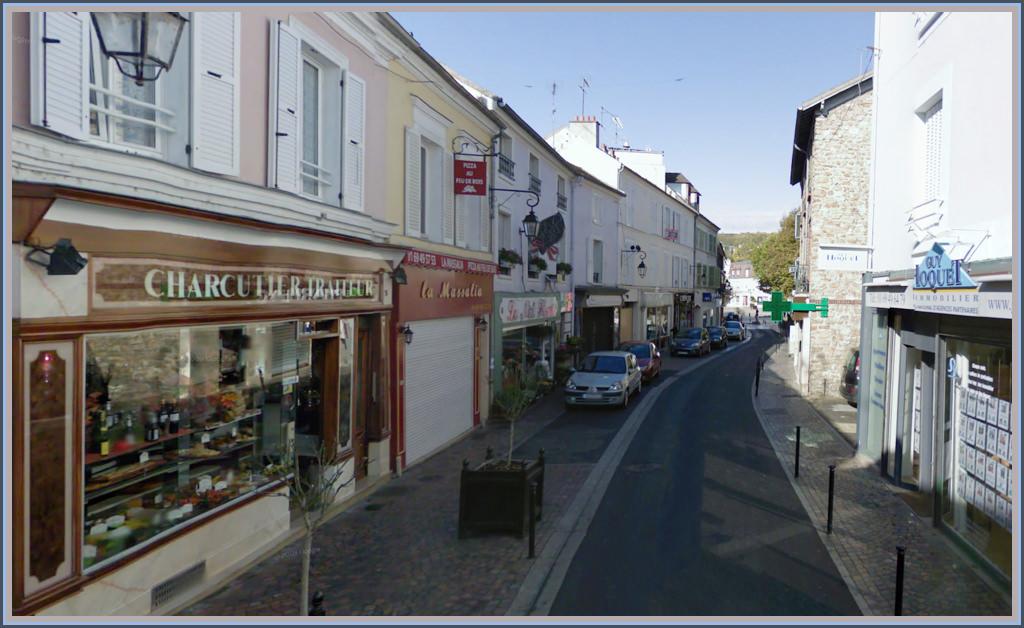 Carte postale ancienne de yerres la rue de paris d hier for Piscine yerres