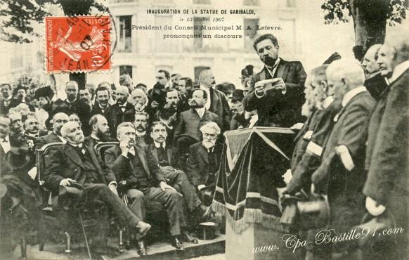 Inauguration-de-la-statue-de-Garibaldi-le-13-Juillet-1907