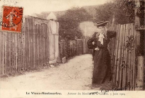 Le-Vieux-Montmartre-Autour-du-Moulin-de-la-Galette-5juin-1904