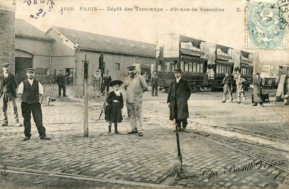 Paris - Depot des tramways-Avenue de Versailles