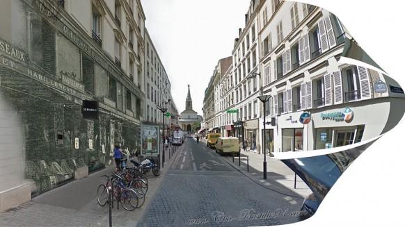 la rue du commerce d'Avant et d'aujourd'Hui