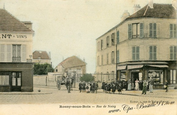 Carte-Postale-Ancienne-Rosny-sous-Bois-Rue-de-Noisy
