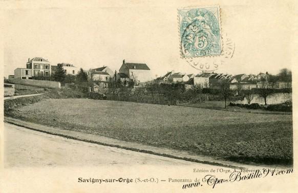 Savigny sur Orge-carte-postale-Ancienne-Panorama de Grandvaux