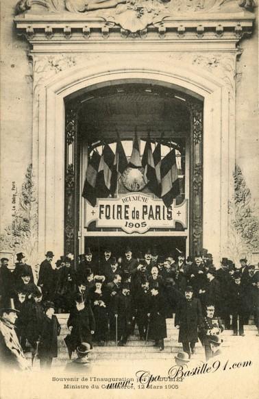 Foire de Paris de 1905 - Souvenir de l'Inauguration par M. DUBIEF le 12 mars 1905