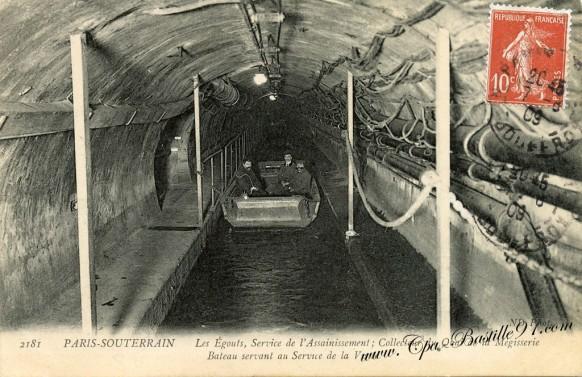 Paris-souterrain-Les-égouts-de-lassainissement